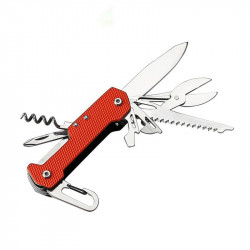 VOLKEN 8 In 1 Portable Multifunctionla Folding Knife Wire Opener Saw Carabiner Screwdriver Scissors Tools