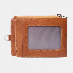 Men Genuine Leather Casual Anti-Theft RFID Blocking Wallet Card Holder