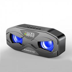 M5 Wireless bluetooth 5.0 Speaker Heavy Bass LED Display FM Radio Handsfree TF Card USB Play Speaker with Mic