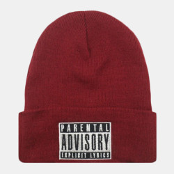 Unisex Letter Embroidery Casual Wild Labeling Knit Beanie Hat