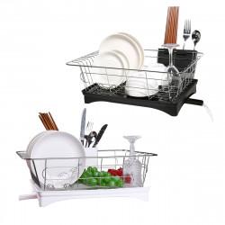 Kitchen Drain Shelf Dish Rack Plates Bowl Drying Organizer Holder Drainer Stainless Steel