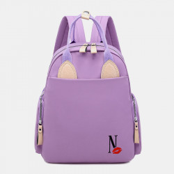 Women Waterproof Light Weight Cartoon Casual Backpack School Bag