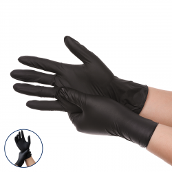 100Pcs/Box JANOLIA Black Disposable Work Gloves Nitrile Non-Slip Waterproof Glove For Tattoo Laboratory Chemistry Protective