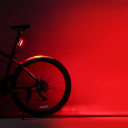 ROCKBROS 500mAh Red LED Light USB Rechargeable Bike Tail Light Waterproof MTB LED Riding Warning Taillight