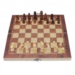 3 In 1 Foldable Chess Set Chess Board Backgammon International Checkers