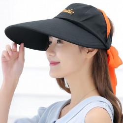 Outdoor Female Sun Hat Big Cotton Beach Hat Floppy Hat
