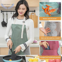 Erasable Hand Waterproof Kitchen Apron Waist Female Work Gown Hand Towel Aprons
