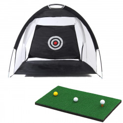 For Kids/Adult 1M/3M Foldable Golf Hitting Net Driving Cage Practice Tent Indoor Outdoor Golf Trainer