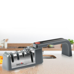 WARSUN-MD009 4 Stage 360 Rotatable Cutter Sharpener Fold for Kitchen Sharpening Stone Scissors Grinder Cutters Tungsten Diamond Ceramic Whetstone Tool
