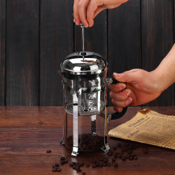 1000ml French Press Coffee Maker Glass Espresso Infuser Kettle Office Filter Pot Portable Coffee Maker