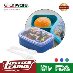 Elianware DC Justice League (550ml) Superheroes Food Container with Fork & Spoon