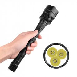 XANES 210 3xXHP70 2500mAh Flashlight 5 Mode Waterproof With 26650 Battery Torch Light