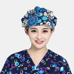 Cotton Printed Fluffy Cap Surgical Cap Scrub Caps Textile Dust Cap