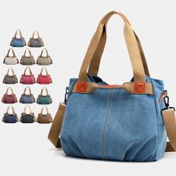 Women Large Capacity Canvas Handbag Shoulder Bag Crossbody Bags