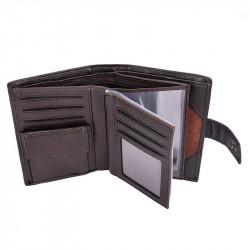 Hengsheng Tri-fold PU Leather Wallet Multifunction  ID Credit Card Holder Passport Holder