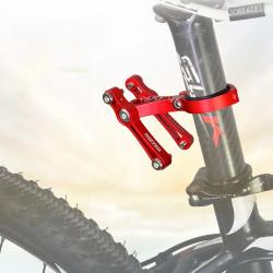 BIKIGHT Aluminum Double Water Bottle Holder Adjustable Bike Cup Holder Bracket Camping Cycling