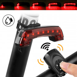BENGGUD BG-806 5Modes USB Rechargeable Bike Remote Control Tail Light+ High Decibel Horn Outdoor IPX4 Waterproof Riding Bike Bicycle Lights