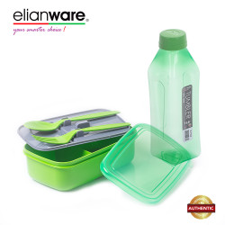 Elianware Value Set 1.0L Tumbler with 1.3L Lunch Box with Fork & Spoon