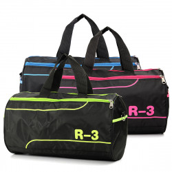 Duffel Women Men Nylon Sports Training Handbag Travel Tote Shoulder Messenger Gym Bag