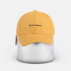 Letter Embroidered Cotton Breathable Baseball Cap