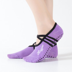 Women Round Head Backless Yoga Sock Non-slip Socks