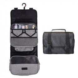Large Size Waterproof Wash Bag Travel Portable Folding Hanging Makeup Storage Bag 300D Cation