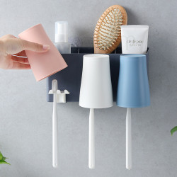 Toothbrush Holder The Set Bathroom Mouthwash Cup Shelf Rack