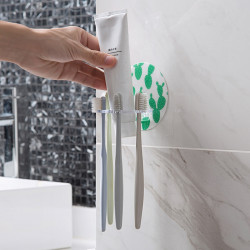 Home Home Hole-Free Toothbrush Holder Shaver Storage Rack
