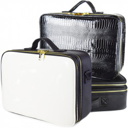 Cosmetic Bag Multi-Function Portable Cosmetic  Case Portable Cosmetics Case