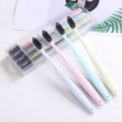 Bamboo Charcoal Head Small Toothbrush Straw Brush One Apos Teet