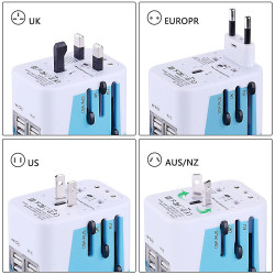 Power Plug Adapter International Travel -With 4 Usb