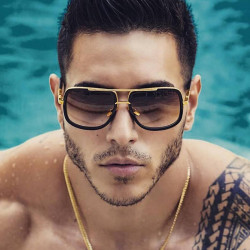 2019 New Fashion Big Frame Sunglasses Formen Square Glasses