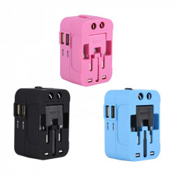 All-In-One Plug Adapter  Travel Outlet Converter Usb Adapter