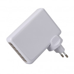 White Usb Charger Portable Travel 4A 6-Port Charger Adapter