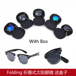 European And American Men And   Hot New Sunglasses Folding Sunglasses Foldable Sunglasses Sent Box