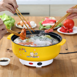 Electric Hot Pot                   Cooking Noodles Steamed Eggs Steamed Vegetables Artifact Fast Cooking Thickening Small Electric Cooking Pot Multifunctional Kitchen Appliances Household Pot